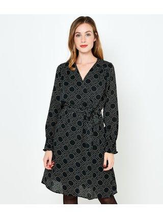 Čierne vzorované šaty CAMAIEU