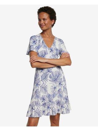 Voľnočasové šaty pre ženy Desigual - modrá, biela