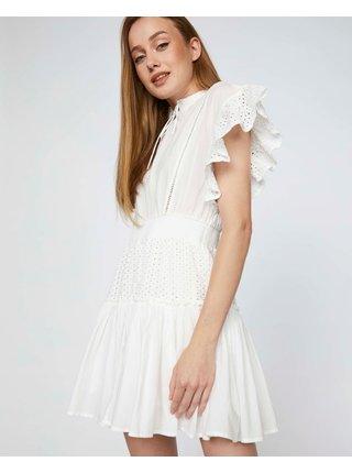 Bílé šaty s volány a madeirou TALLY WEiJL