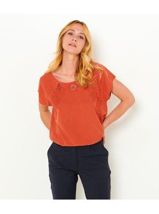 Móda pre plnoštíhle pre ženy CAMAIEU - oranžová