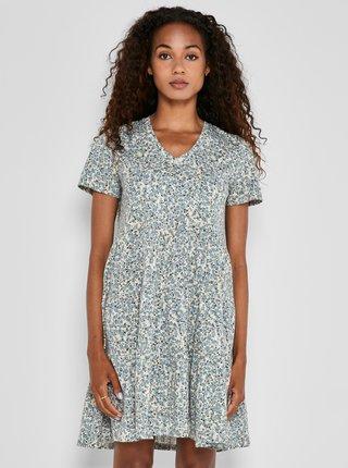 Světle modré květované volné šaty Noisy May Marble