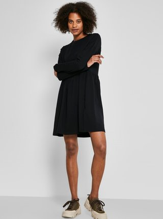 Černé volné mikinové šaty Noisy May Kerry