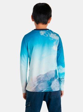 Modré klučičí tričko s motivem Desigual Snow
