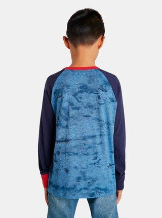 Modré chlapčenské tričko s motívom Desigual Space