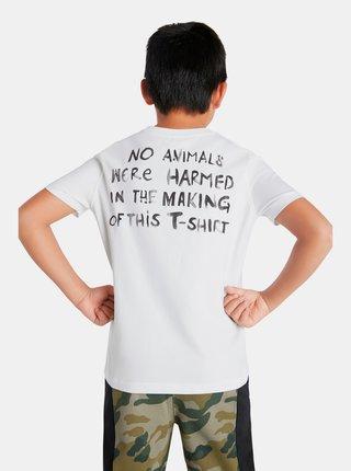 Biele chlapčenské tričko s motívom Desigual Animals
