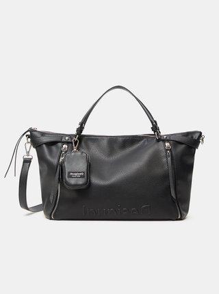 Čierna dámska kabelka Desigual Embossed Half Libia