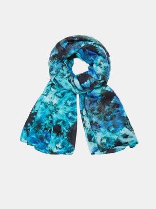 Modrý dámský vzorovaný šátek Desigual Samara Multi Rectangle