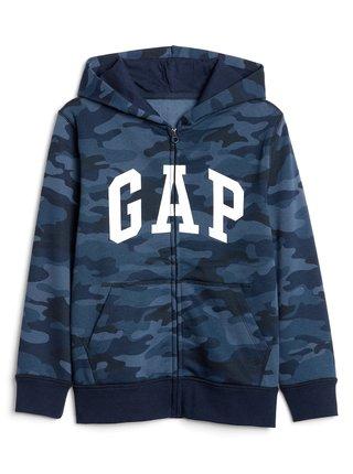Modrá klučičí mikina GAP Logo fleece hoodie