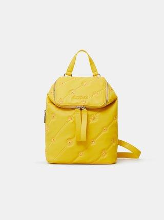Žlutý dámský vzorovaný batoh Desigual Ojo de Tigre Nerano Loen Mini