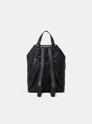 Čierny dámsky vzorovaný batoh Desigual Ojo de Tigre Nerano Loen Mini