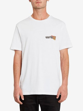Volcom Worlds Collide white pánské triko s krátkým rukávem - bílá