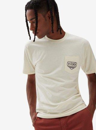 Vans DAKOTA ROCHE LOGO SEEDPEARL pánské triko s krátkým rukávem - bílá
