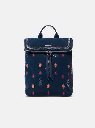 Tmavomodrý dámsky vzorovaný batoh Desigual July Tribu Nerano