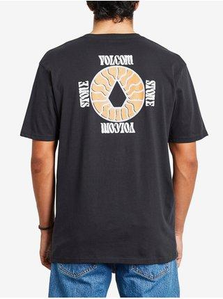 Volcom Surprise black pánské triko s krátkým rukávem - černá