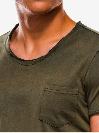Pánské tričko bez potisku S1049 - zelené