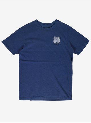 RVCA CAMPBELL BROS  SHADY BLUE pánské triko s krátkým rukávem - modrá