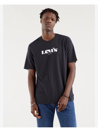 Tričká s krátkym rukávom pre mužov Levi's® - čierna