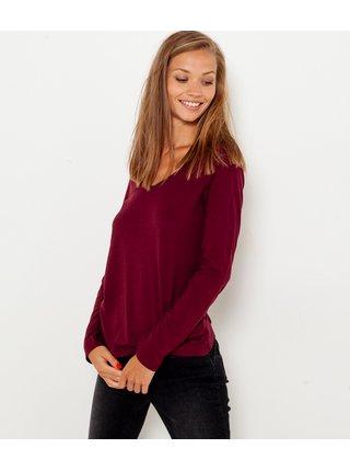 Topy a tričká pre ženy CAMAIEU - vínová