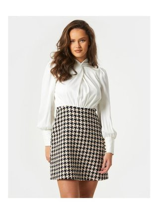 Barevná mini sukně kostkovaného vzoru LITTLE MISTRESS