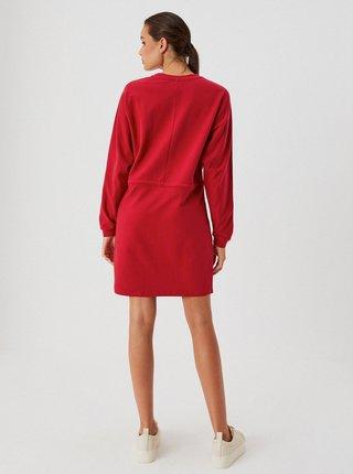 Červené mikinové šaty Moodo