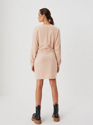 Svetloružové mikinové šaty Moodo