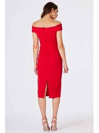 Červené bardotové pouzdrové šaty LITTLE MISTRESS