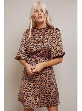Barevné šaty rovného střihu s abstract vzorem LITTLE MISTRESS