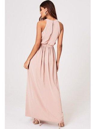 Růžové maxi šaty s prestřižením v pase LITTLE MISTRESS