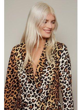 Sakové šaty s leopard vzorem LITTLE MISTRESS