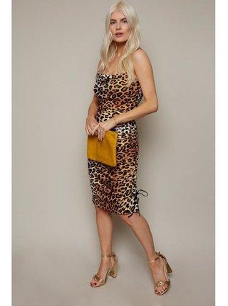 Leopardí nařasené šaty LITTLE MISTRESS