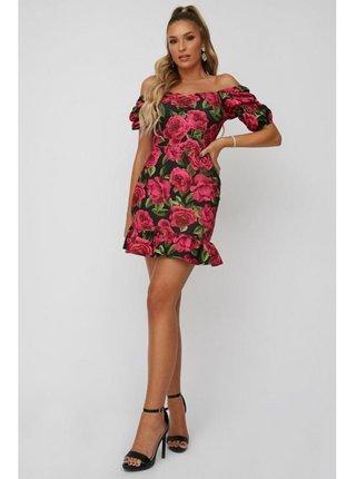 Barevné květinové mini šaty LITTLE MISTRESS