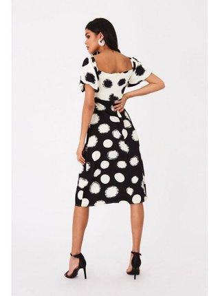 Černobílé šaty s mix puntiky LITTLE MISTRESS