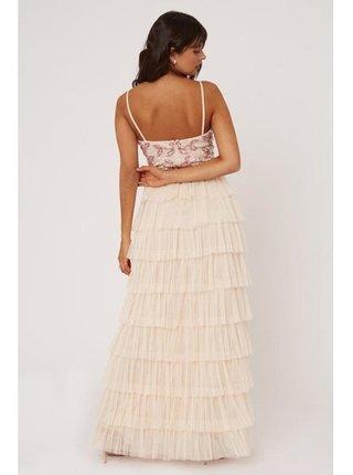 Tělové maxi šaty se stupňovitým střihem LITTLE MISTRESS