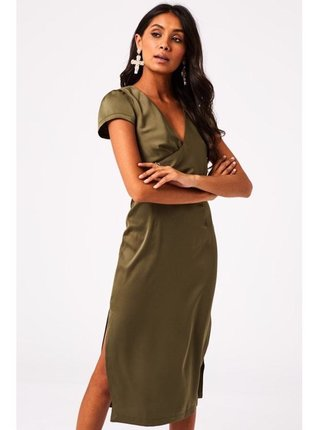 Spoločenské šaty pre ženy Little Mistress - kaki