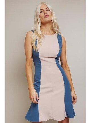 Barevné mini šaty s barevnými bloky LITTLE MISTRESS