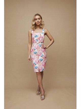 Barevné květinové šaty s opaskem LITTLE MISTRESS