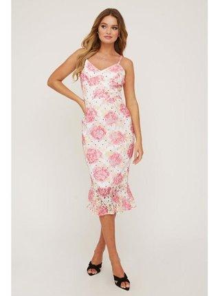 Barevné květinové šaty s volánkovým lemem LITTLE MISTRESS