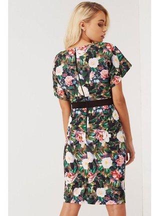 Barevné pouzdrové květinové šaty LITTLE MISTRESS
