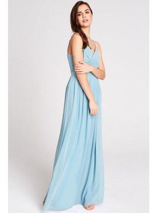 Modré šifonové maxi šaty LITTLE MISTRESS