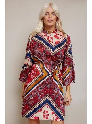 Barevné šaty s psaníčkovým vzorem LITTLE MISTRESS