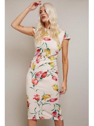 Tělové přiléhavé šaty s květinovým vzorem LITTLE MISTRESS
