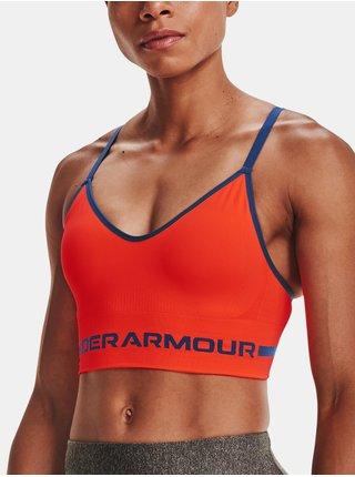 Podprsenka Under Armour UA Seamless Low Long Bra - oranžová