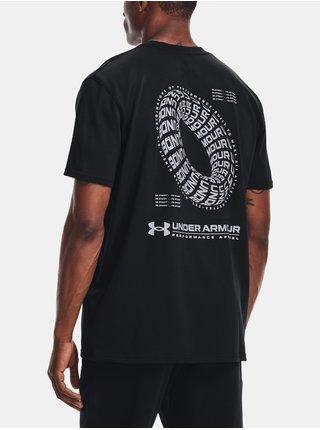 Tričko Under Armour SIGNATURE VORTEX HW SS - černá