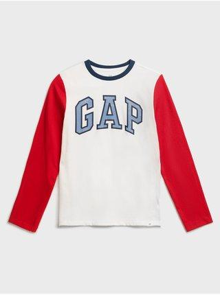 Bílé klučičí tričko GAP Logo t-shirt