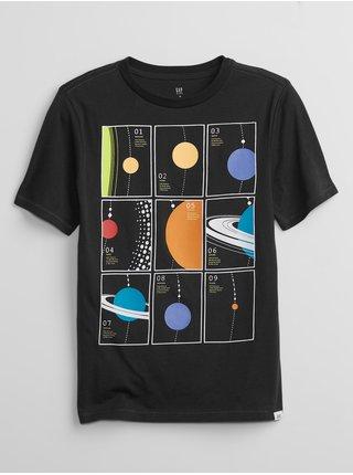 Černé klučičí tričko interact graphic t-shirt