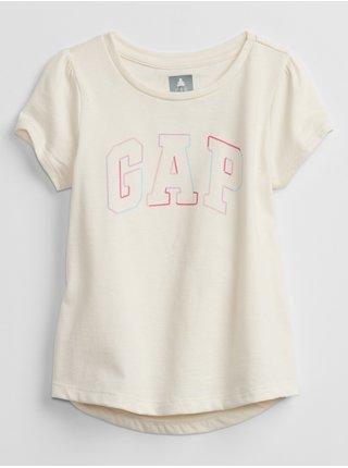 Béžové holčičí tričko GAP Logo swing t-shirt
