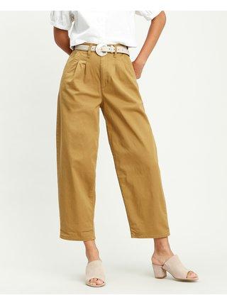 Nohavice pre ženy Levi's® - žltá, hnedá