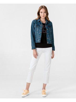 Straight fit pre ženy Pepe Jeans - biela