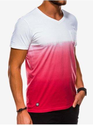 Pánské tričko bez potisku S1036 - červené