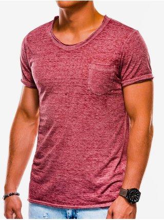 Pánské tričko bez potisku S1051 - bordó
